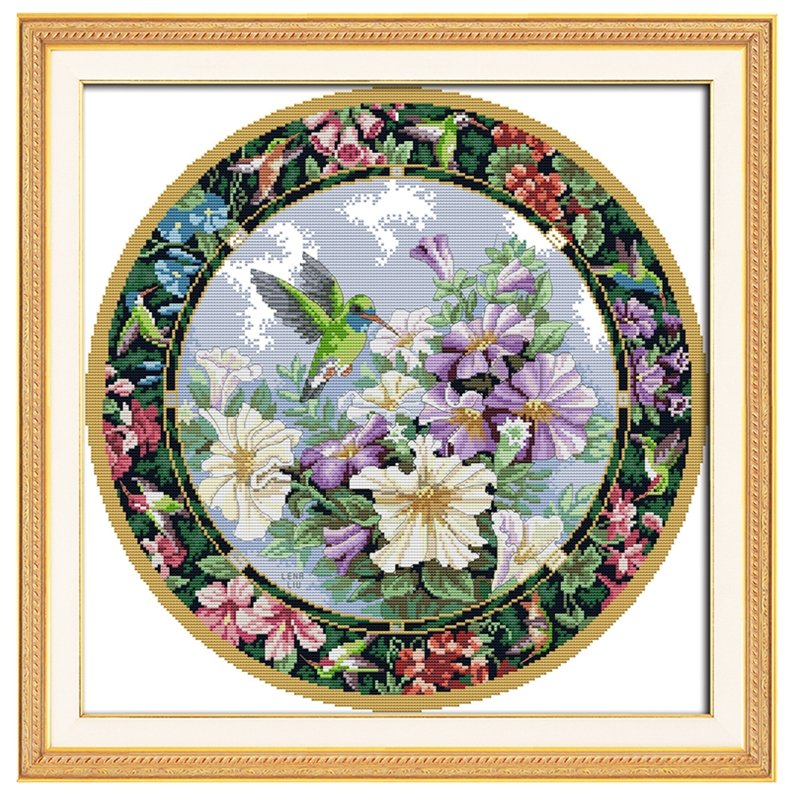 Wreath. The Sweet Nectar Chinese Counted Cross Stitch Pattern 11CT Printed On Canvas Embroidery Cross Set Home Decor Joy Sunday