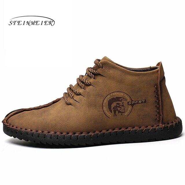 Người đàn ông Khởi Động Mùa Đông 2019 Ấm Giày Tuyết Người Đàn Ông Khởi Động Mùa Đông ngoài trời Làm Việc Giày Nam Giày Dép Thời Trang Cao Su Mắt Cá Chân Giày 38 -48