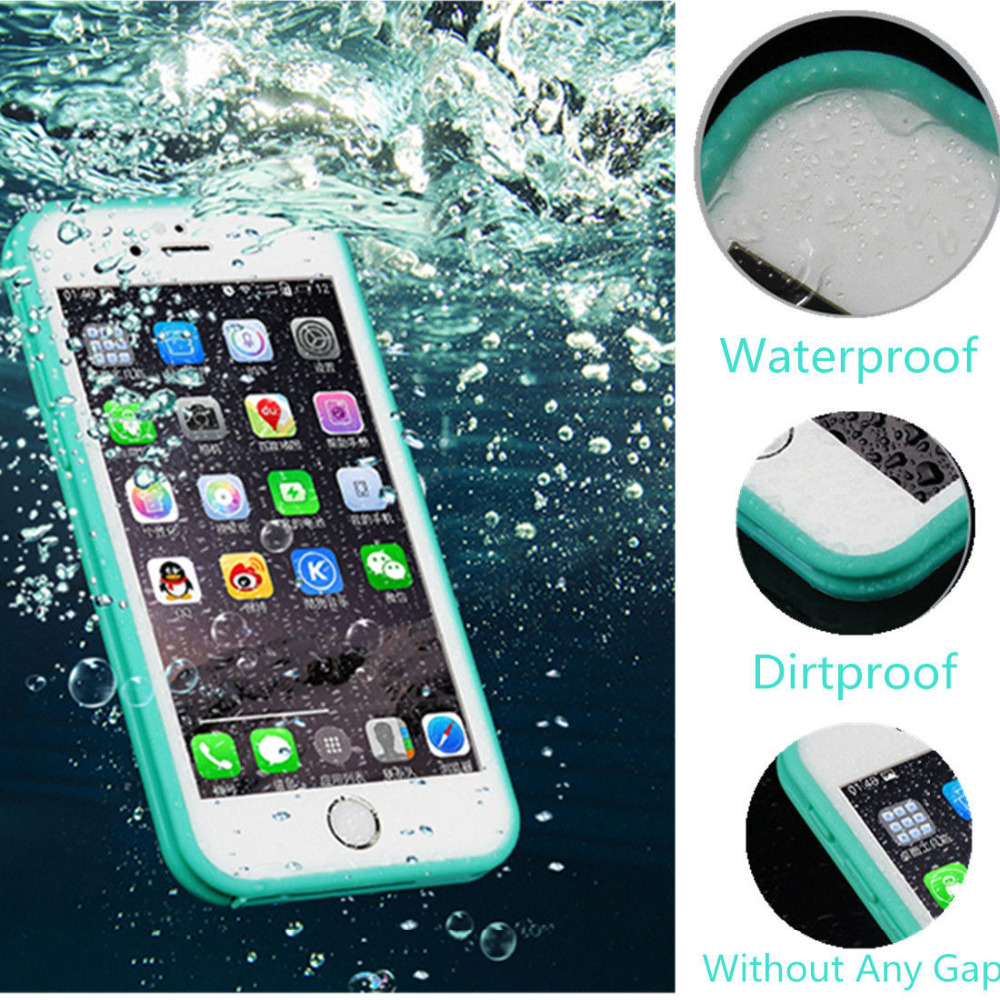 new product ea23f 0f423 US $3.43 20% OFF|Waterproof Phone Case For Apple iPhone 6 6S Plus Life  WaterProof Case Conqe For iPhone 5 5S SE Shockproof Anti dirt Cover Capa-in  ...