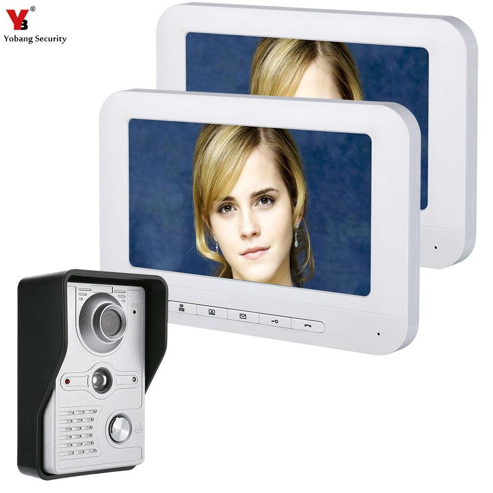 "Yobang Security 7"" Video Door Intercom Doorbell Phone Wired Visual Video Intercom Speakerphone System Home Audio intercom"