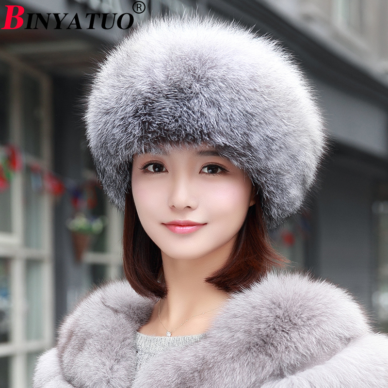 2017 Autumn and Winter New Fox Fur Fur Hat Fashion New Female Hat 3 Kinds of Sizes new autumn winter parent child women red fox fur hats warm knitted beanies real fur cap high quality kitting female fur hat