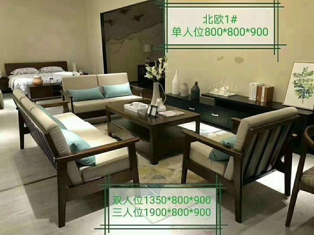 Modern Style  Living Room Fabric Cloth Leather Sofa Set YLSD007