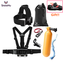 цена на SnowHu for Go Pro Accessories set Yellow Water Floating Grip Monopod Handle Tripod For Gopro Hero 7 6 5 4 for Xiaomi for Yi GS64