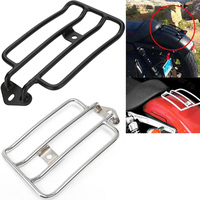 Black Chrome Motorcycle Plated Luggage Rack Solo Seat Fits For Harley Davidson Sportster 883N 1200 XL