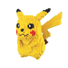 1650PCS Japanese Anime Pokemon Diamond Blocks 15 18 CM Big Size Kawaii Pikachu Blocks Toys Ornaments