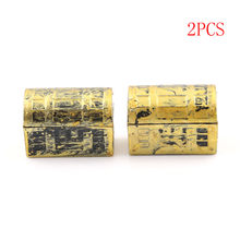 2Pcs Vintage Treasure Box Mini Pirate Jewelry Box Case Kids Play Toys Doll House Accessories Dollhouse Miniature(China)