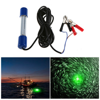 Fishing Light Submersible LED Lamp Bait Squid Attracting Light Fish Finder Light 8W 180 LEDs Underwater Night with 18 Feet Cord