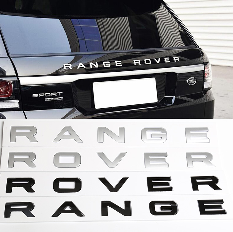 Badge Emblem Grill and Tailgate Black and Silver for  Range Rover