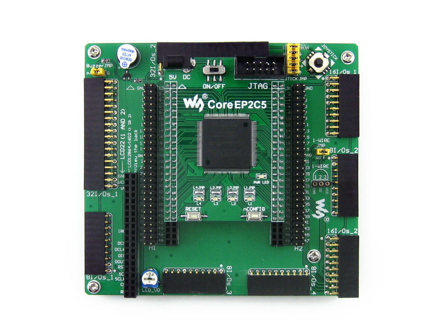 Altera Cyclone Board EP2C5 EP2C5T144C8N ALTERA Cyclone II FPGA Development Board = OpenEP2C5-C Standard fast free ship for gameduino for arduino game vga game development board fpga with serial port verilog code