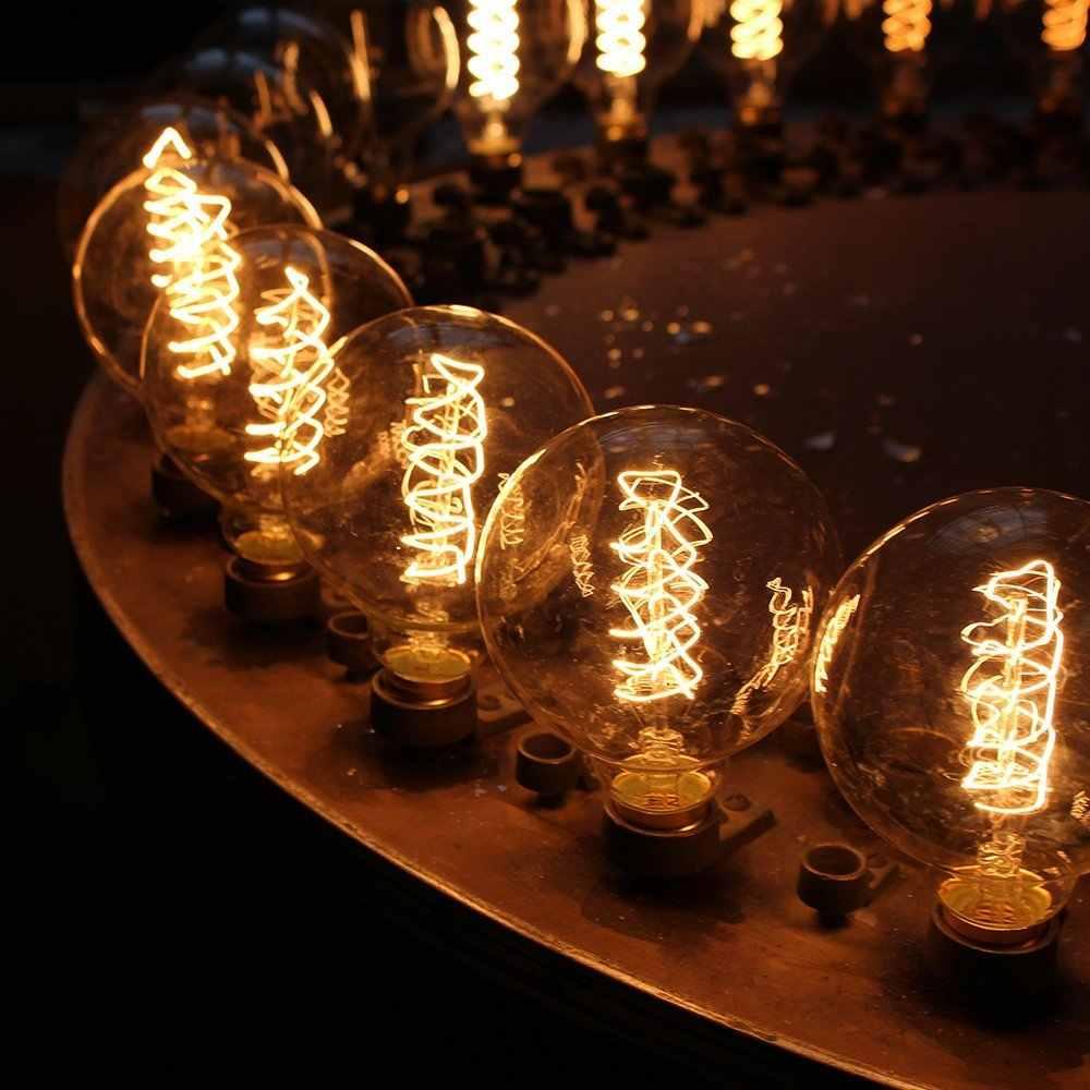 Bombilla Edison Vintage E27 ST64 T10 T45 G80 G95 40W, luces colgantes candelabros, lámpara LED de 220V, soporte de Lámpara de cuerda de luz incandescente E27