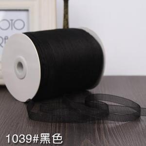 Черная шифоновая лента для шитья, 1 см, 3/8 дюйма, ручная работа, принадлежности для изготовления свадебного торта, 10 метров