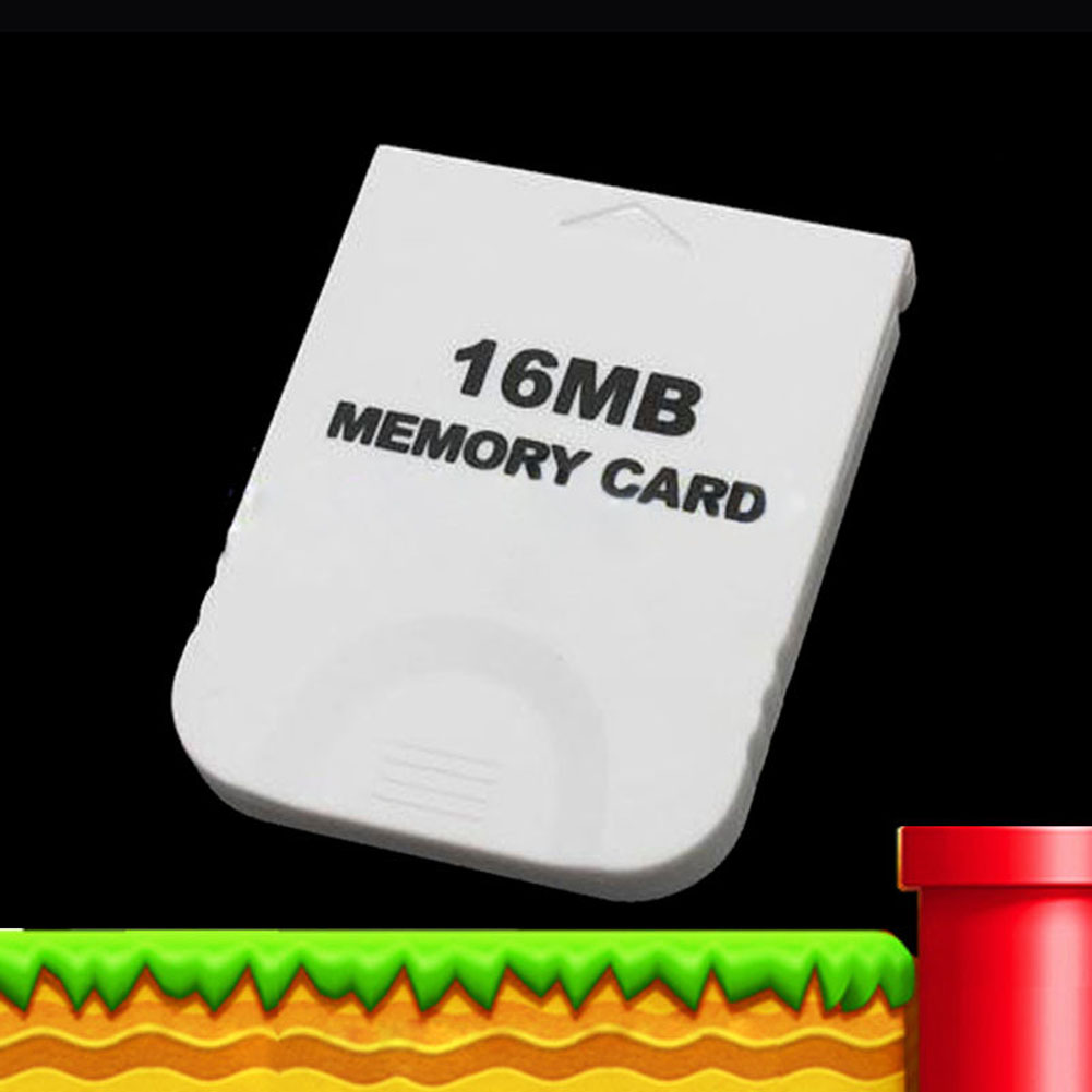 Practical White Game 16MB Memory Card Block for <font><b>Nintendo</b></font> Wii Gamecube GC Game System Console 16M