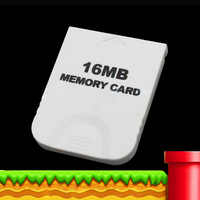 Practical White Game 16MB Memory Card Block for Nintendo Wii Gamecube GC Game System Console 16M