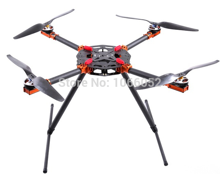 aliexpresscom buy 750 large quadcopter carbon fiber fpv foldable large quadcopter multicopter framefixture landing skidmultirotor helicopter from