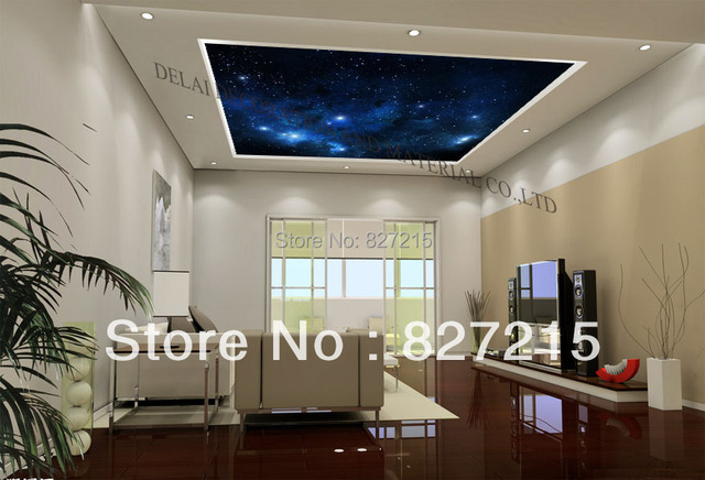 U 9436 nieuwe uv ster gedrukt dakraam pvc spanplafond film voor
