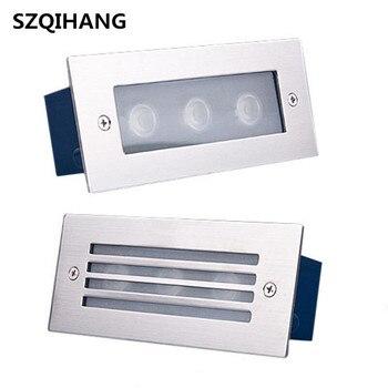 Бесплатная доставка DHL светодиодные лампы 3*3 Вт наружное ландшафтное лестничное освещение Светодиодные ступенчатые светильники ночные све...