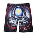 Mens quick dry shorts Board short de bain trunks men galaxy print sea beach shorts 3D Bermuda Beach Wear shorts