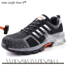 Size 35-46 Men Steel Toe Safety Work Shoes Breathable men shoe sneakers Anti-piercing anti-slip wearable Protection Footwear
