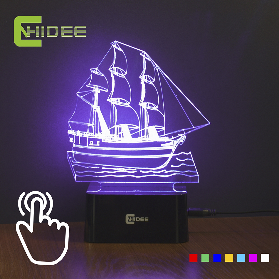 Buy Home Decor Sailing Ship Led Night