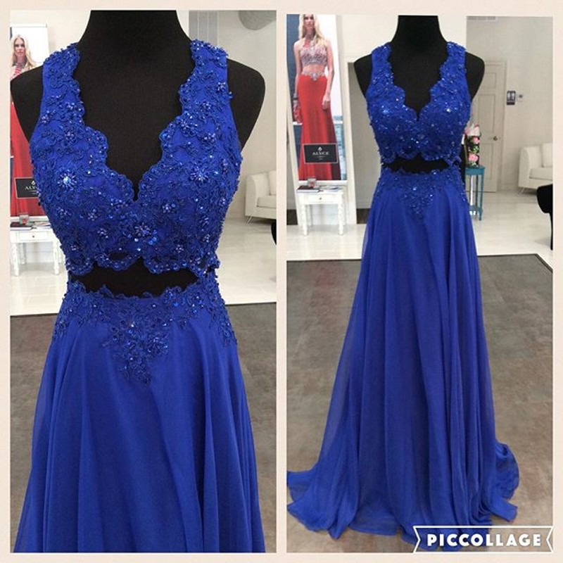 Cute Long Homecoming Dresses Sexy Two Piece Prom Dress