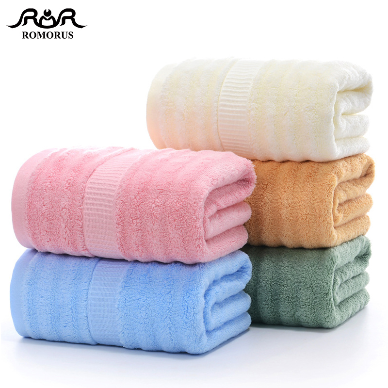 100% Bamboo Fiber Towel Thick High Quality Bamboo Face Towel Large Bath Towels Cool Antibacterial Soft Absorbent Beach Towel