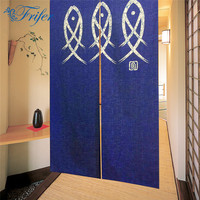 Innovative New Japanese Noren Cute Three Fishes Embellished 85x150cm Kawaii Door Curtain