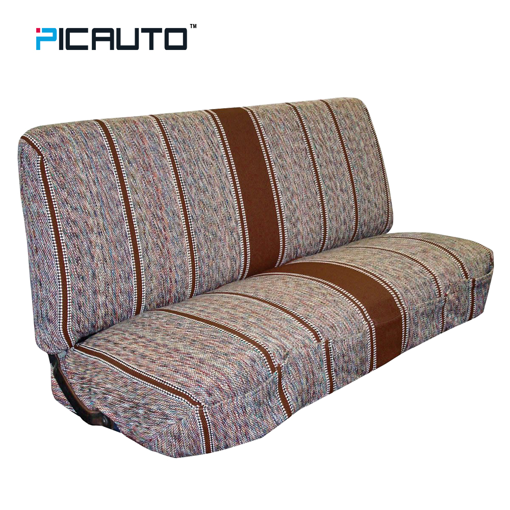 PIC AUTO Classic Ethnic Striped Fabric Saddle Blanket Bench Seat Covers Universal Baja Bucket Seat Cover For Car Truck Van SUV