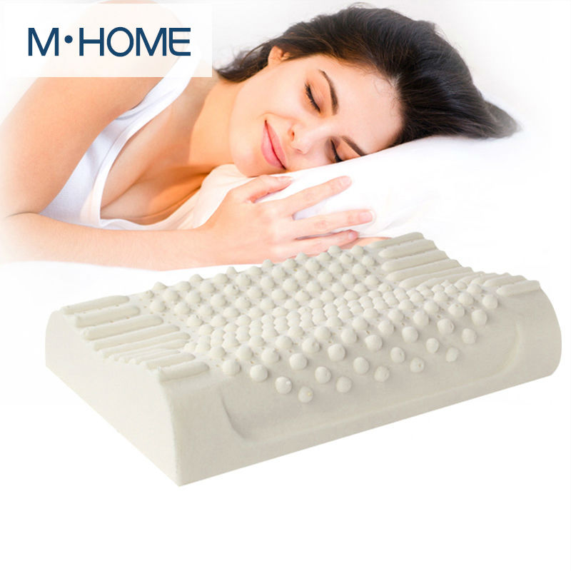 100 Natural Latex Bed Cervical Orthopedic Pillow Sleeping