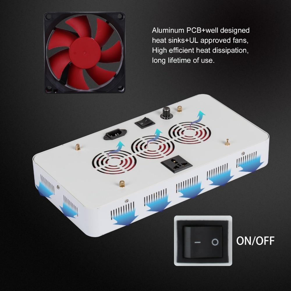 Dimmable élèvent la led 300 w lumière with100x3w Puces Meilleur pour Toutes Les Étapes Intérieur Hydro/Aéroponique croissance Des Plantes éclairage US /DE/CA stock