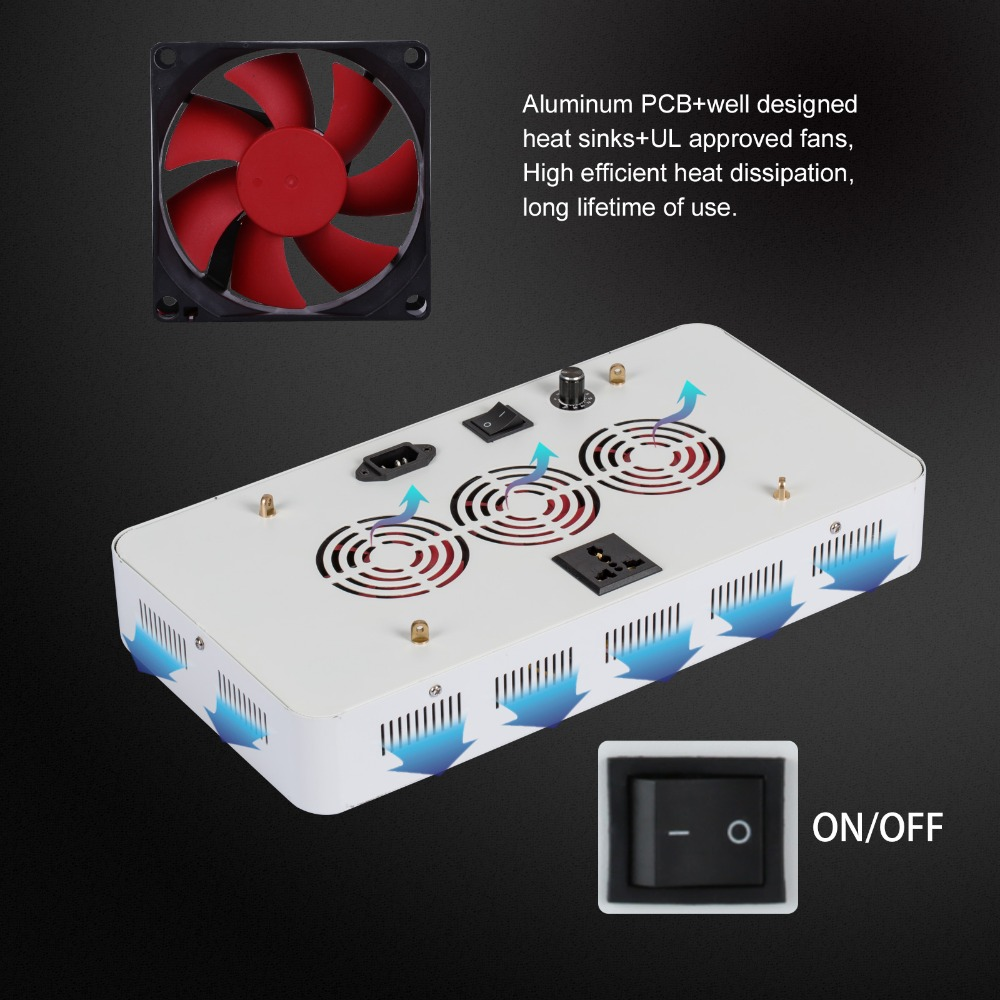Dimmable Grow Led 300W Light With100x3w Chips Best For All Stages Indoor Hydro/Aeroponic Plant Growth Lighting US/DE/CA Stock