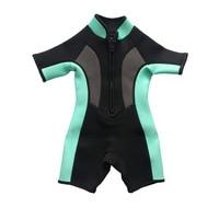Child Boy Girl Wetsuit 2mm Neoprene One Piece Swimsuit Diving Surf Snorkel Swim Wet Suit Spearfishing Beach Jumpsuit Swimwear