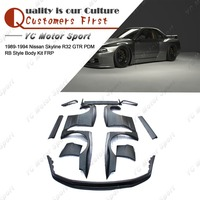 FRP Fiber Glass PD Style Bodykit Fit For 1989 1994 R32 GTR Body Kit Front Lip Whole Fender Rear Spats Spoiler Wing