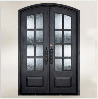 Online Buy Wholesale Wrought Iron Glass Entry Doors From