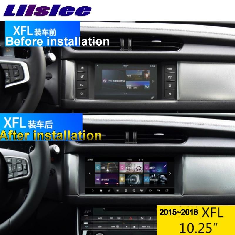 For Juguar XE XF XFL X260 R-Sport 2015-2018 NAVI LiisLee Car Multimedia 10.25' GPS WIFI Audio CarPlay Adapter Radio Navigation 2