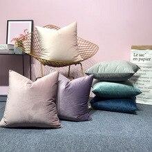 Роскошный бархатный чехол для подушки, наволочка, чехол для подушки, желтый, розовый, синий, золотой, белый, черный, серый, для дома, Декоративные диванные подушки