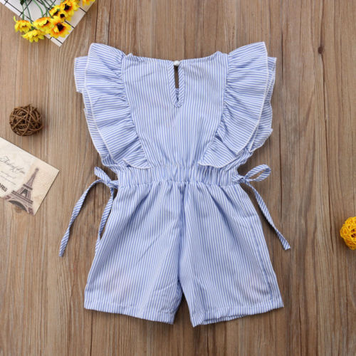 Clothing, Shoes & Accessories Sweet-Tempered Baby Girl Romper Jumpsuit Blue With Hearts Size 6-12 Months
