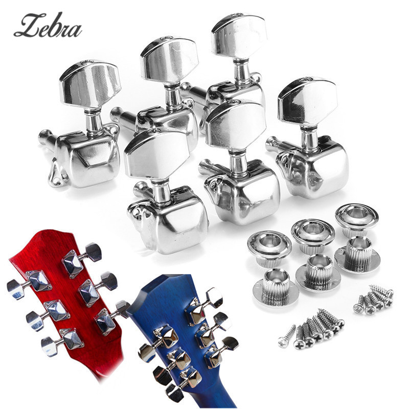 hot zebra 6pcs acoustic guitar tuning pegs guitar string semiclosed tuning pegs tuners machine. Black Bedroom Furniture Sets. Home Design Ideas