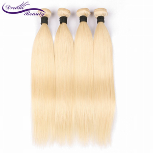Image 4 - Dream Beauty Brazilian Straight Hair Bundles Weave 1 PC Blonde Full 613 Color Non Remy 100% Human Hair Extensions 10 28Inch
