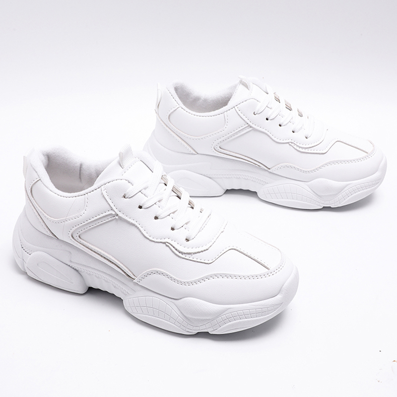 Dentelle Blanc Confortable white Mode Sneakers Chaussures Femelle Chaussure 2019 Nouvelle Chunky Femmes Beige up Formateurs Papa Szpq0wZ