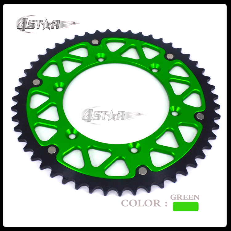 49T CNC Rear Chain Sprocket KX125 KX250 KLX650 Motocross Supermoto Enduro Racing MX Dirt Bike Off Road Motorcycle