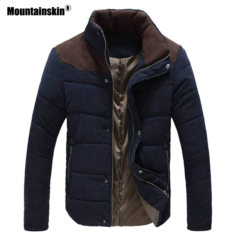 Mountainskin Outerwear Overcoat Winter Mens Padded Parka Thick-Jackets Brand-Clothing
