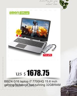 Bben G17 Win 10 Pro Activated laptop Intel i7-7700HQ CPU 8GB/16GB/32GB RAM Wireless wifi Russian-English language keyboard