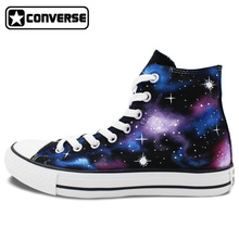 Men Women Sneakers Galaxy Nebula Converse Chuck Taylor Original Design Hign Top Sneakers Hand Painted Shoes Christmas Gifts