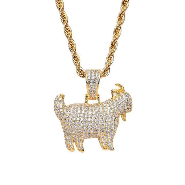 CZ Animal Goat Pendant Hip...