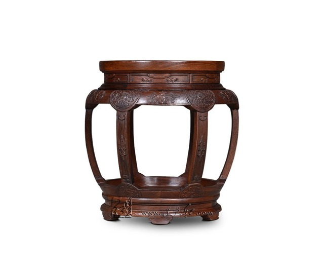The Imperial Palace Book Reservation Chinese Antique Furniture Burmese  Rosewood Bench Home Decoration Round Stool - The Imperial Palace Book Reservation Chinese Antique Furniture