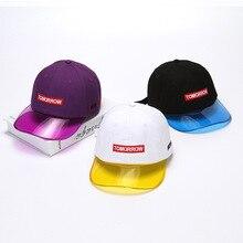High Quality Fashion Contrast Color Baseball Cap Tommorrow Purple Black White Snapback Gorras Bone