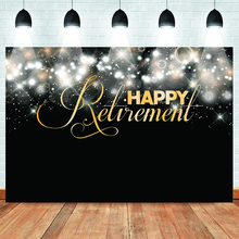 Happy Retirement Backdrop for Photography Shiny Portrait Abstract Background Customized Photographic Backdrops Photo Studio