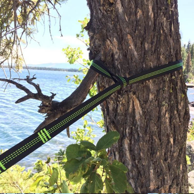 Image 5 - TR 16280 Outdoor Tree Hanging Hammock Strap High Load Bearing Nylon Webbing Climbing Rope Durable Camping Travel Portable Sling-in Climbing Accessories from Sports & Entertainment