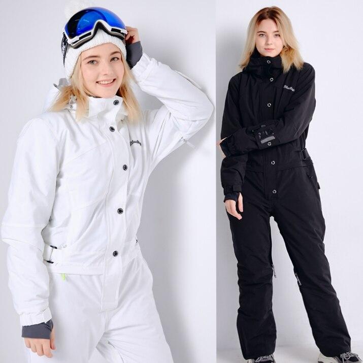 Azul mágico nuevo invierno snowboard kombez chaqueta de esquí y pantalón trajes de esquí mujeres mono mujer snowboard impermeable en general Rusia