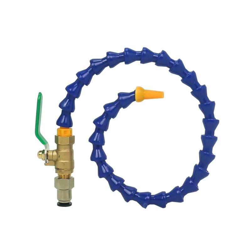 Cnc Milling Machine Flexible Oil Coolant Pipe Hose Blue Orange 500mm Drilling Kits